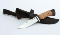 Нож Клык, сталь AISI 440C, рукоять береста