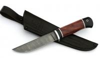 Нож Лось, сталь дамаск, рукоять бубинга-черный граб