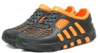 Кроссовки из ЭВА, черно-оранжевые (галоши)