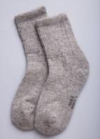 Носки из 100% шерсти серый (про-во Монголия)