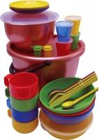 """Набор посуды для пикника """"Пчелка"""", на 4 персоны, в футляре"""