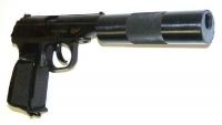 Пневматический пистолет Байкал МР-654К-22(с фальшглушителем обновлен.ручка)