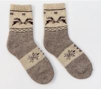 Носки из 100% шерсти снежинки и олени