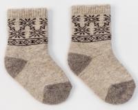 "Носки детские из 100% шерсти с рисунком ""Снежинки"""