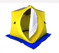 Палатка рыбака КУБ-3 трехслойная брезент (Стэк)