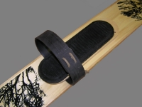 Крепления кожаные для охотничьих лыж с амортизатором